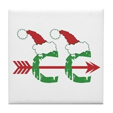 Cross Country Christmas Tile Coaster