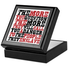 The More You Question Keepsake Box