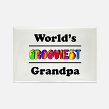 World's Grooviest Grandpa Rectangle Magnet