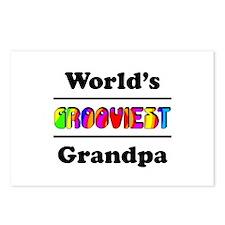 World's Grooviest Grandpa Postcards (Package of 8)