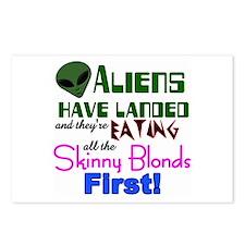 Cute Blonde humor Postcards (Package of 8)