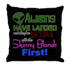 Cute Alien ufo Throw Pillow