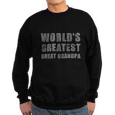 World's Greatest Great Grandpa (Grunge) Sweatshirt