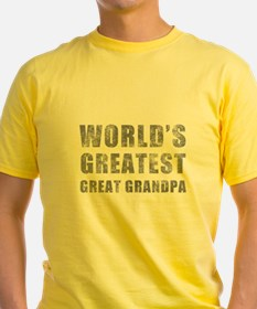World's Greatest Great Grandpa (Grunge) T