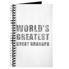 World's Greatest Great Grandpa (Grunge) Journal