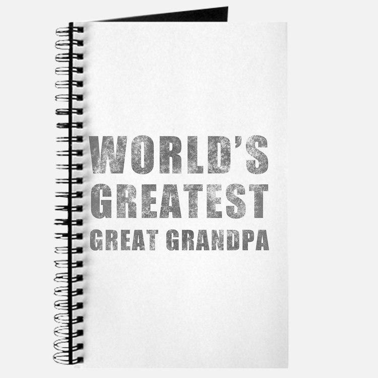 World's Greatest Great Grandpa (Grunge) Journal
