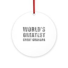World's Greatest Great Grandpa (Grunge) Ornament (