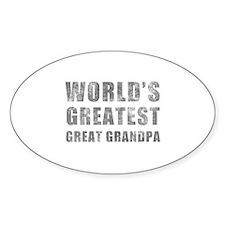 World's Greatest Great Grandpa (Grunge) Decal