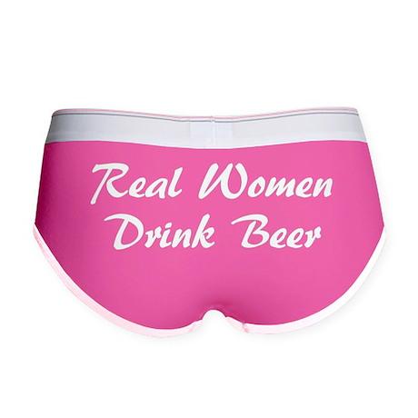 Real Women Drink Beer Women's Boy Brief