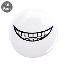 """Smile mouth 3.5"""" Button (10 pack)"""