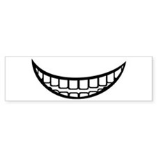 Smile mouth Bumper Sticker