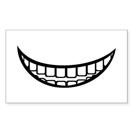Smile mouth Sticker (Rectangle)