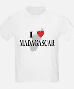 I Love Madagascar Kids T-Shirt