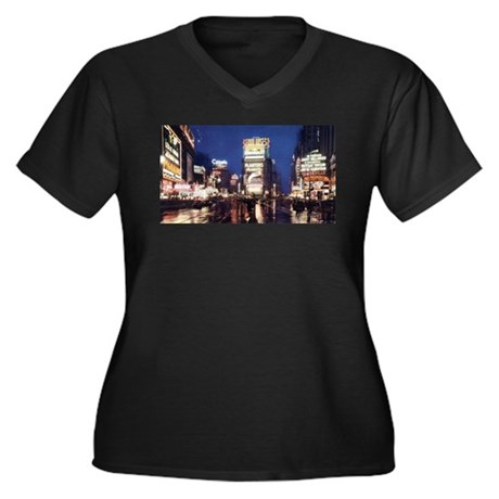 Classic New York City Women's Plus Size V-Neck Dar