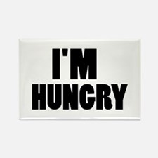 I'm hungry Rectangle Magnet (100 pack)