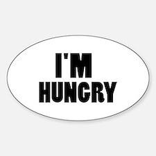 I'm hungry Sticker (Oval)