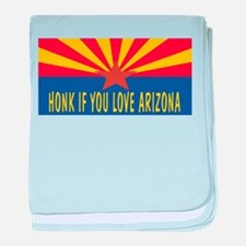 Honk If You Love Arizona baby blanket