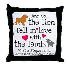 Lion & Lamb Throw Pillow