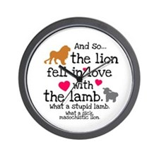 Lion & Lamb Wall Clock
