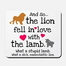 Lion & Lamb Mousepad