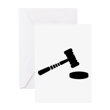 Judge hammer Greeting Card