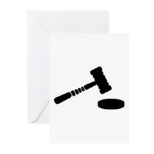Judge hammer Greeting Cards (Pk of 20)