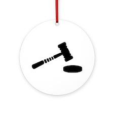 Judge hammer Ornament (Round)