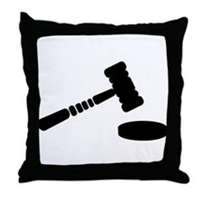 Judge hammer Throw Pillow