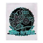 BMX Born to ride Throw Blanket