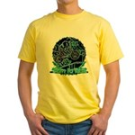 BMX Born to ride Yellow T-Shirt