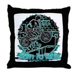 BMX Born to ride Throw Pillow