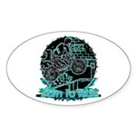 BMX Born to ride Sticker (Oval 50 pk)