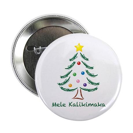 "Mele Kalikimaka 2.25"" Button"