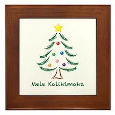 Mele Kalikimaka Framed Tile