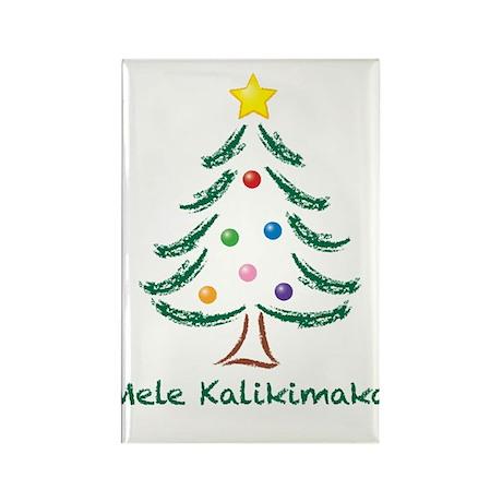 Mele Kalikimaka Rectangle Magnet (100 pack)