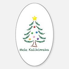Mele Kalikimaka Sticker (Oval)