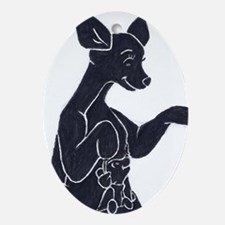Kangaroo Christmas Ornament (Oval)