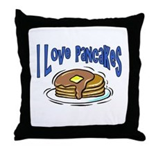 I Love Pancakes Throw Pillow