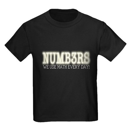 Numb3rs We Use Math Every Day Kids Dark T-Shirt