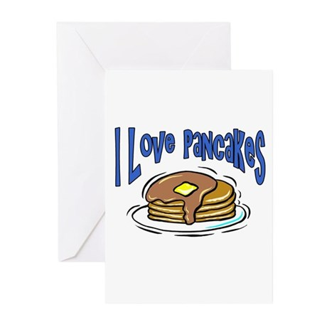 I Love Pancakes Greeting Cards (Pk of 10)
