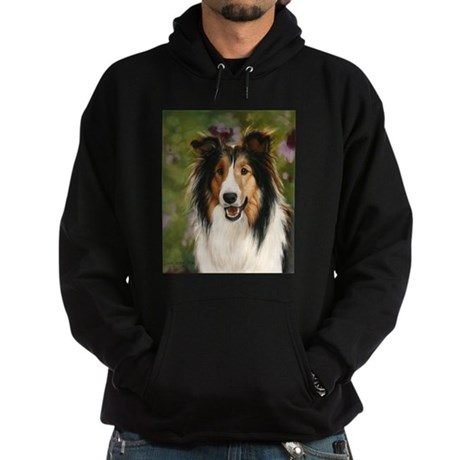Shetland Sheepdog by Dawn Sec Hoodie (dark)