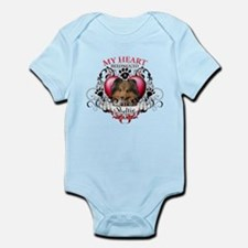 My Heart Belongs to a Sheltie Infant Bodysuit