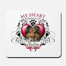 My Heart Belongs to a Sheltie Mousepad