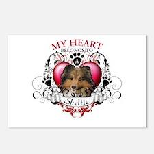 My Heart Belongs to a Sheltie Postcards (Package o