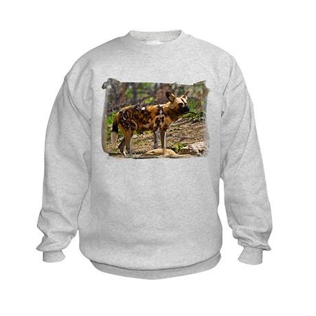 African Wild Dog 1932 Kids Sweatshirt