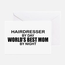 World's Best Mom - HAIRDRESSER Greeting Cards (Pk