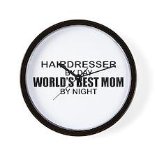 World's Best Mom - HAIRDRESSER Wall Clock