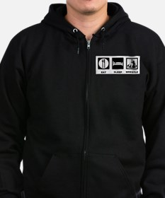 Eat Sleep Wrestle Zip Hoodie