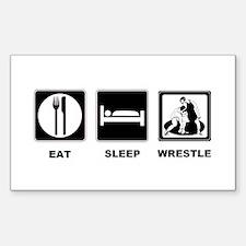 Eat Sleep Wrestle Sticker (Rectangle)