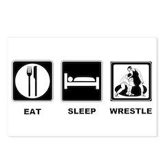 Eat Sleep Wrestle Postcards (Package of 8)